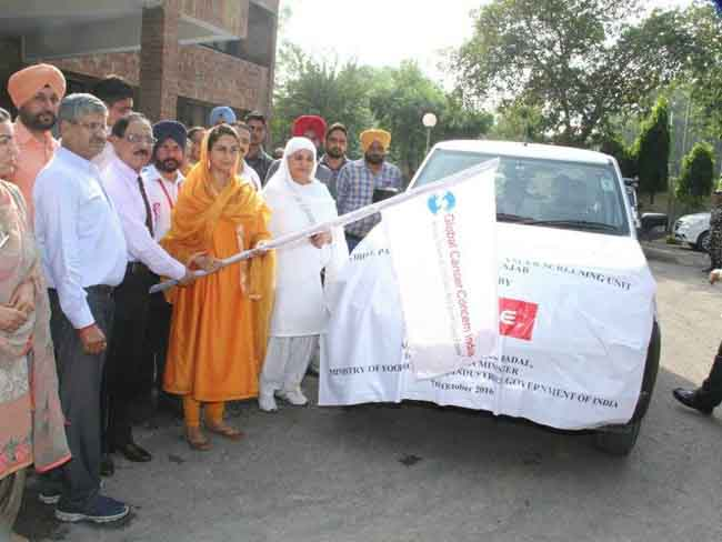 Flagging Of Mobile Primary Health And Cancer Care Unit, Bhatinda