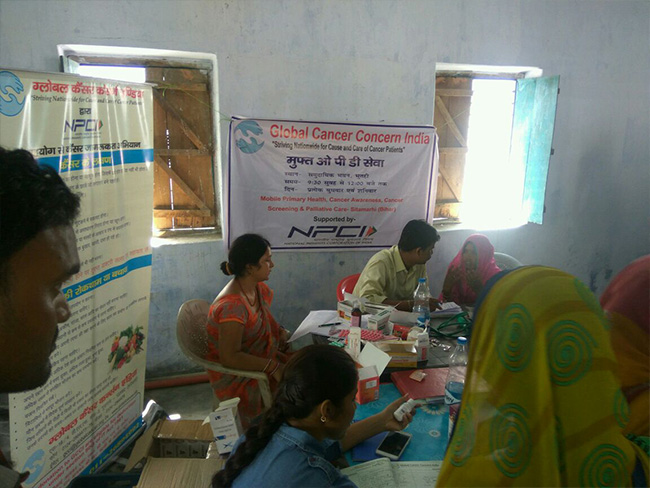 Cancer Screening Camp at Sitamarhi